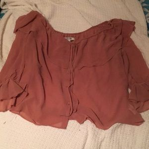 Pale Blush Forever 21 Button Up Blouse
